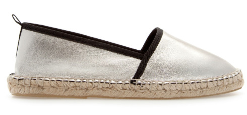Zara metallic slippers espadrillas
