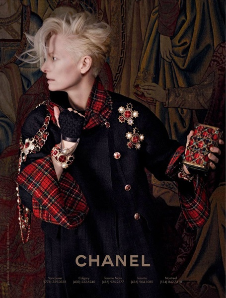 Tilda Switon for Chanel Ad Campaign Fall 2013