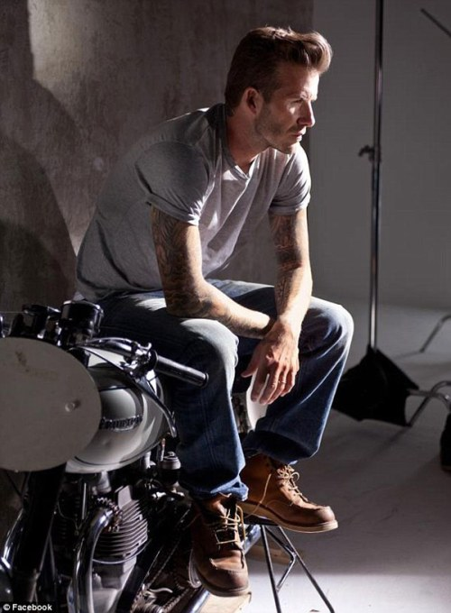 David Beckham in Red Wings Shoes