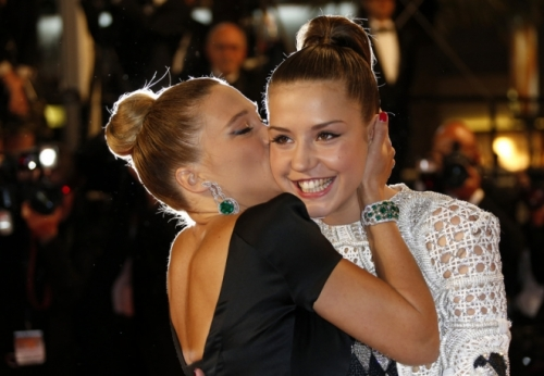 Lea Seydoux and Adele Exarchopoulos, Cannes 2013