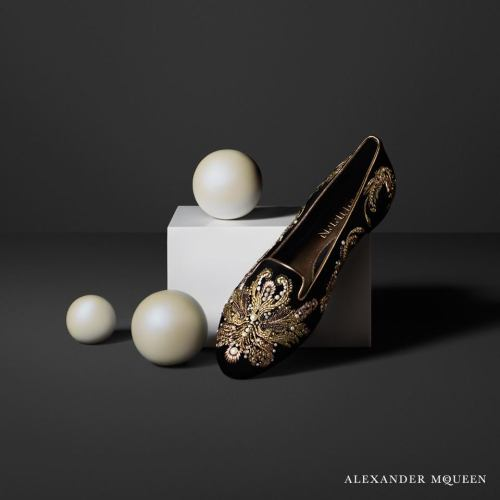 Alexander McQueen Embroidered Slippers F/W 2013