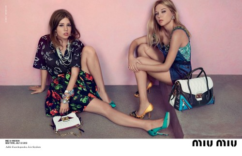 Lèa and Adele for Miu Miu Resort 2014
