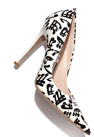 Music Note Print Patent Leather Pumps Miu Miu Resort 2014