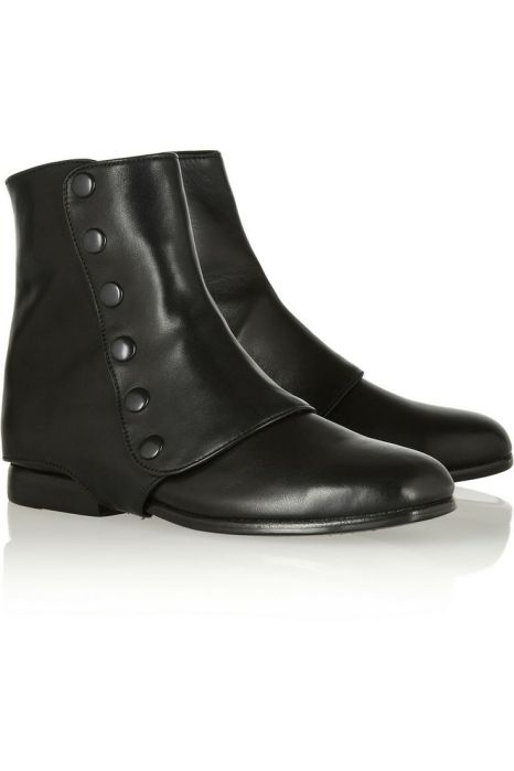 NewbarK, Hayden leather and suede gaiter ankle boots
