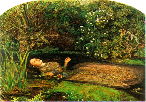 Ophelia by John Everett Millais, 1851. Tate Gallery