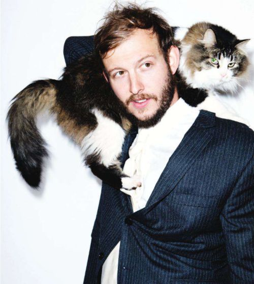 Bon Iver with his cat