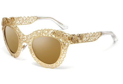 Dolce&Gabbana Floral Filigree Cat Eye Sunglasses F/W 2013