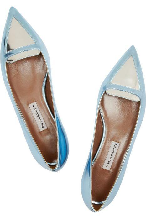 Alexa point-toe flats by Tabitha Simmons