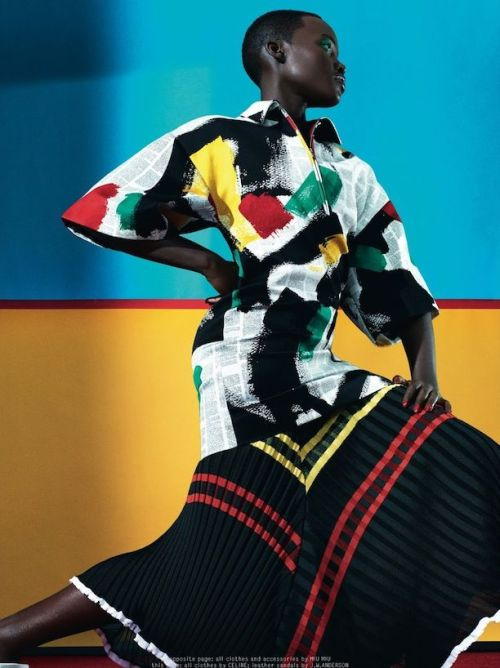 Lupita Nyong'o for Dazed and Confused in Celine Dress
