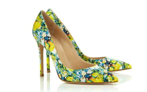 Mary Katrantzou shoes by Gianvito Rossi S/S 2014