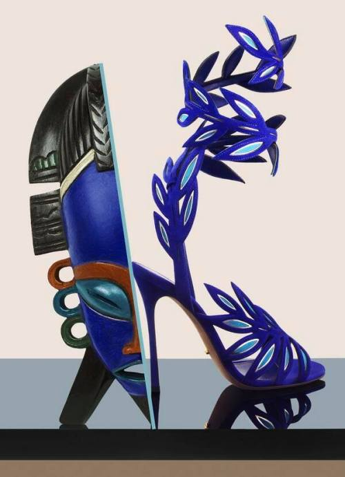 Sergio Rossi Flora Sandals S/S 2014 for Marie Claire USA