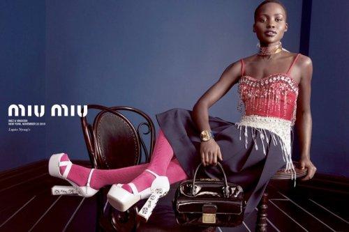 Lupita Nyong'o for Miu Miu Ad Campaign S/S 2014
