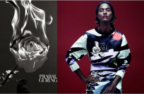 Liya Kebede for Prabal Gurun S/S 2014