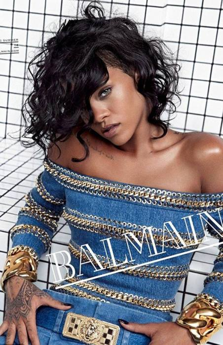Rhianna for Balmain S/S 2014