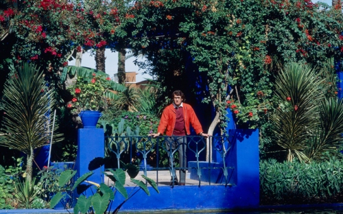 Yves Sain Laurent in Marrakech, Jardin Majorelle