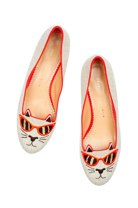 Kitty flat by Charlotte Olympia Spring 2014