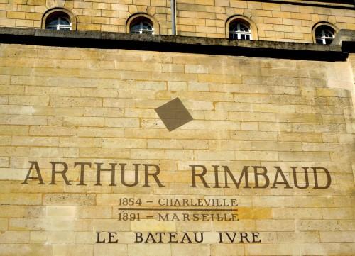 """Arthur Rimbaud: """" Le Bateau Ivre"""" Rue Fèrou, Paris"""