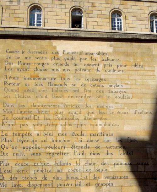 """Arthur Rimbaud: """" Le Bateau Ivre"""", Fondation Tegen Beeld in Rue Fèrou, Paris"""