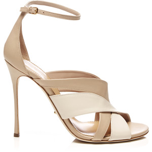 Sergio Rossi Two Tone Leather Sandals S/S 2014