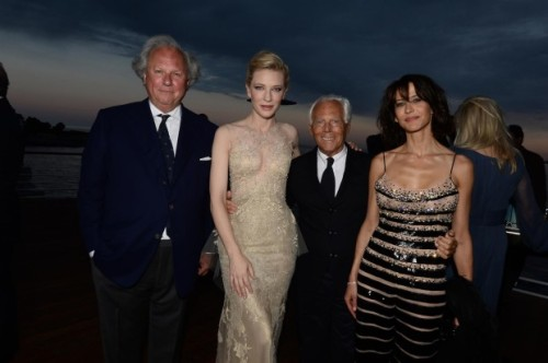Graydon Carter, Cate Blanchett, Giorgio Armani and Sophie Marceau @ Vanity Fair and Armani Party in Cap d'Antibes