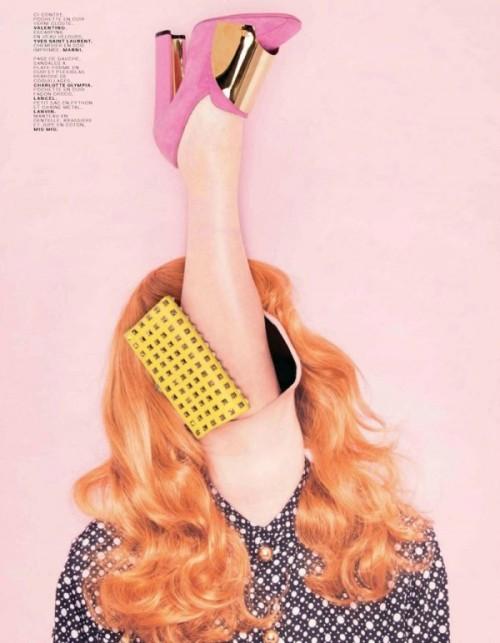 Ina Jang for Jalouse magazine, April 2012. Yve s Saint Laurent shoes