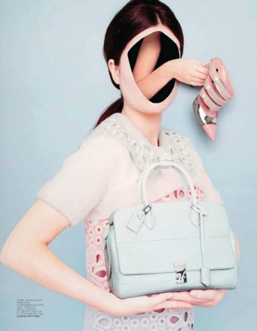 Ina Jang for Jalouse magazine, April 2012. Louis Vuitton shoes