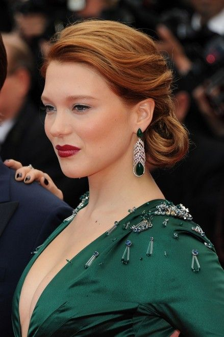 Lèa Seydoux in Prada dress and Chopard jewels