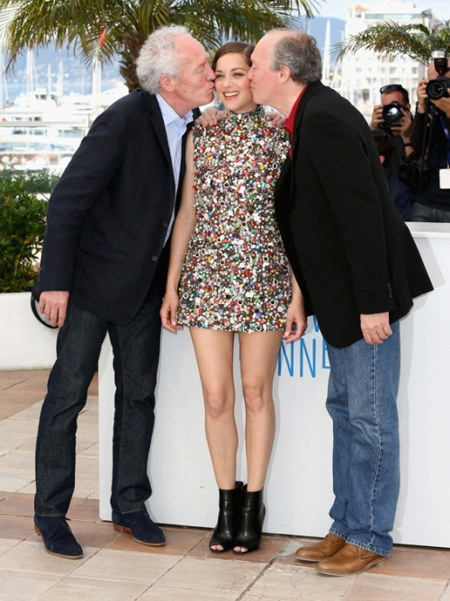 Marion Cotillard and Dardenne brothers @Cannes 2014