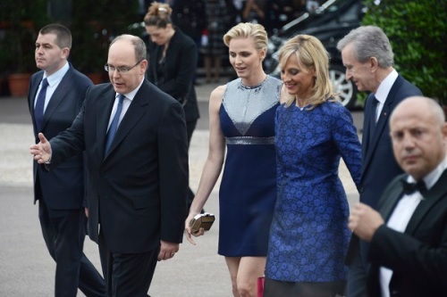 Prince Albert II and Princess Charlene with Bernard Arnault and his wife