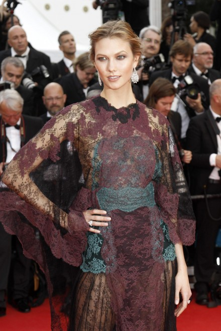 Karlie Kloss in Valentino, Cannes 2014