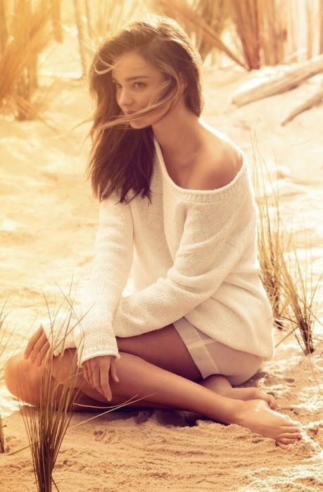 Miranda Kerr's sun kissed spread for Harper's Bazaar UK June 2014