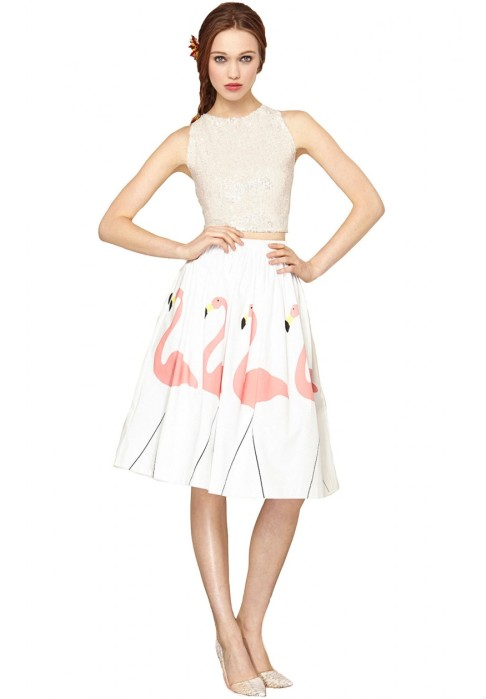 Alice+Olivia Hale midlength puff skirt
