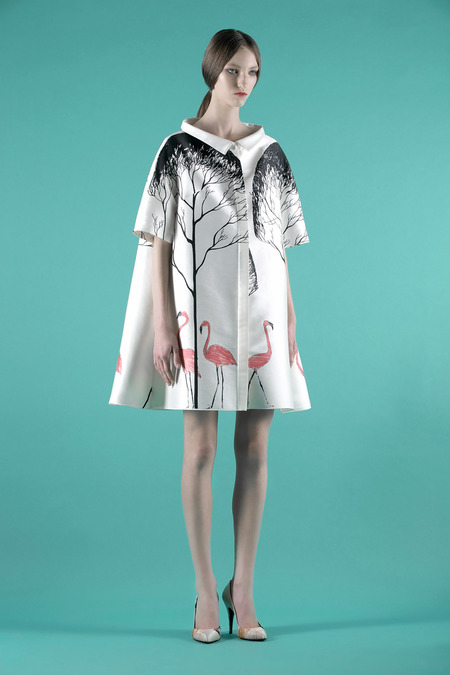 Vika Gazinskaya printed brushed satin coat