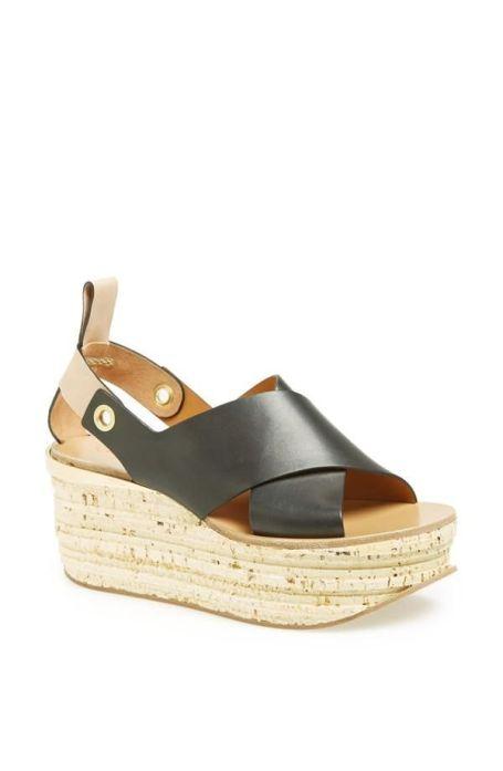 cork platform Chloè sandals