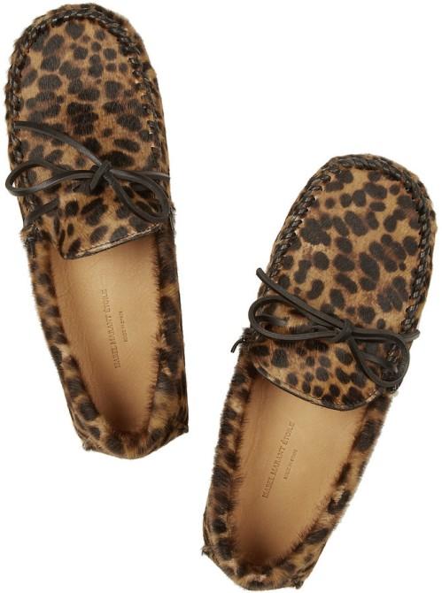Isabel Marant Etolile leopard mocassins Fall 2014