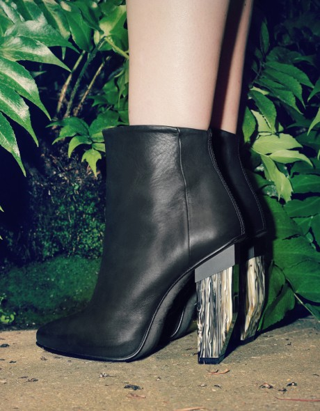 Amaya Black ankle boots by Miista