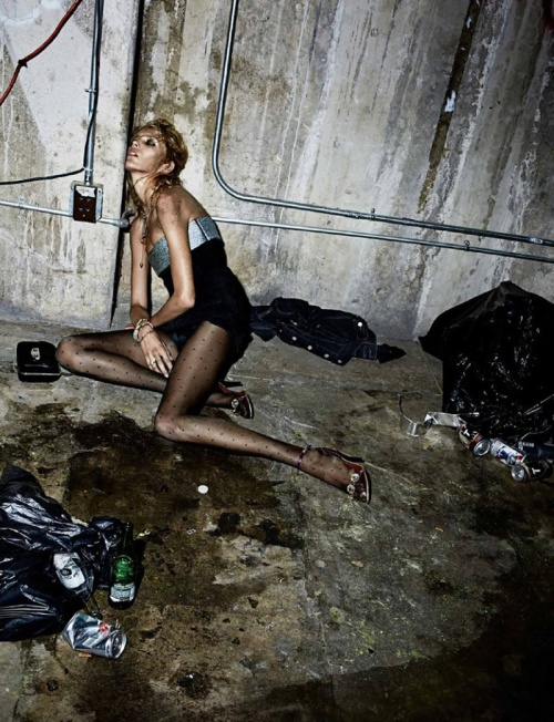 Anja Rubik for Interview Magazin by Fabien Baron, October 2014