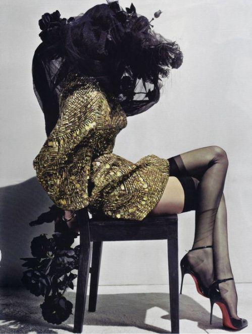Lily Donaldson for Alexander McQueen by Steven Klein for Vogue Paris