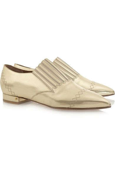Gaia mirrored leather loafers by Laurence Dacade