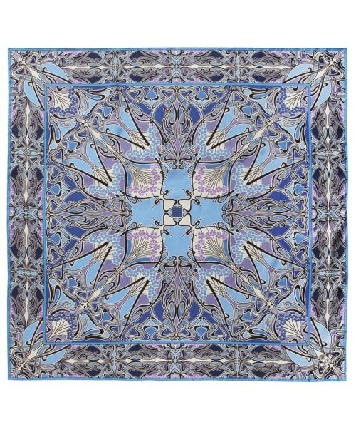 Blue Lanthe Silk Scarf Liberty London