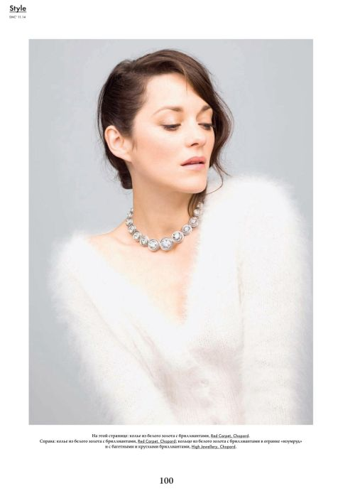 Marion Cotillard for SNC Russia Magazine November 2014