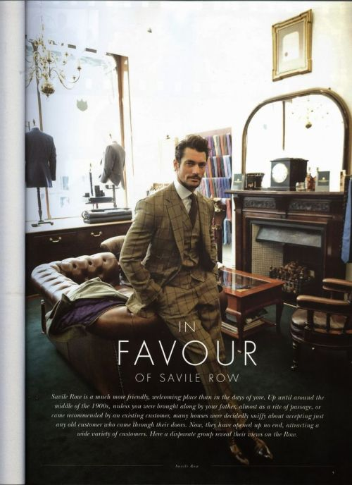 David Gandy for Savile Row Style Magazine July 2014