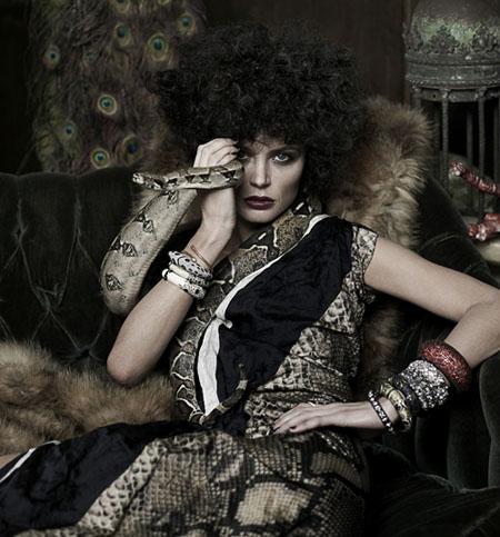 "Georgina Chapman ""La Marchesa"" by Peterr Lindbergh for Harper's Bazaar 2010"