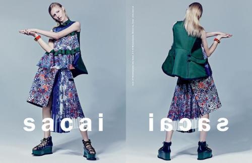 Sacai Ad Campaign Spring 2015