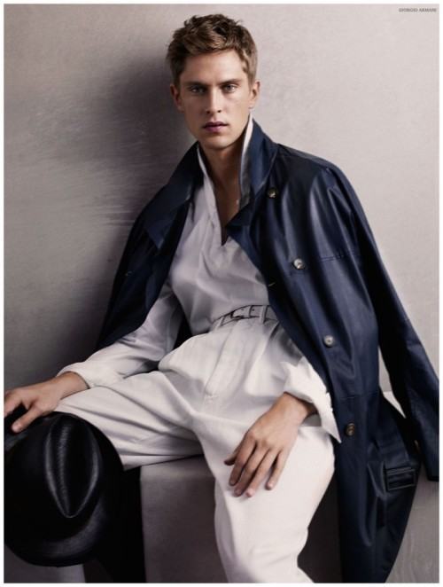 Mathias Lauridsen for Armani S/S 2015
