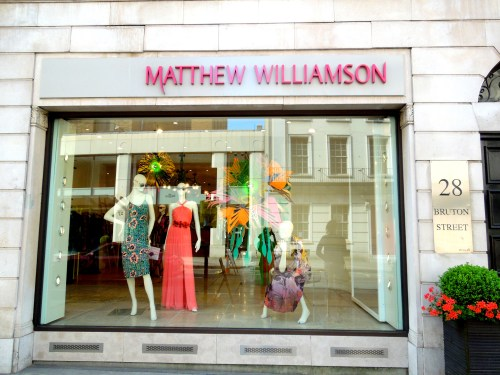 Matthew Williamson boutique, Bruton Street London