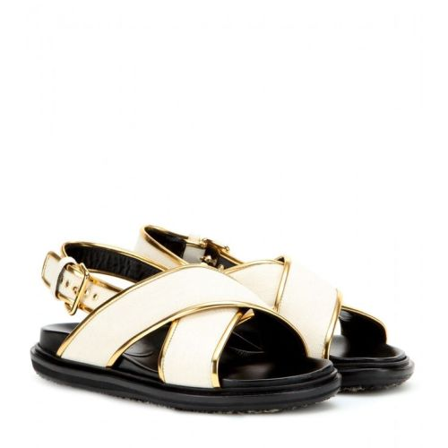Marni metallic- trimmed Leather Sandals S/S 2015
