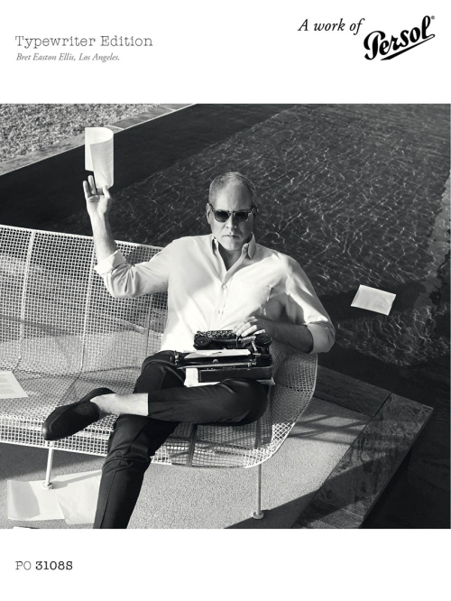 Bret Easton Ellis for Persol Typewriter  Edition
