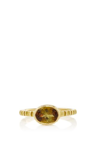 Africa gold 750° ring with green tourmaline by Ilias Lalaounis