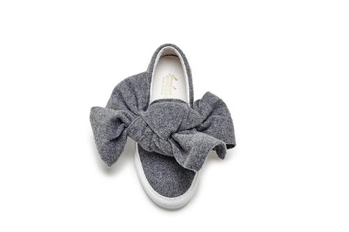 Joshua Sanders grey felt bow Fall 2015
